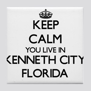 Keep calm you live in Kenneth City Fl Tile Coaster
