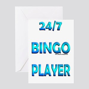 24/7 Bingo Greeting Card