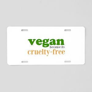 Cruelty Free Aluminum License Plate