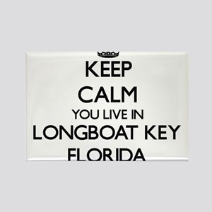 Keep calm you live in Longboat Key Florida Magnets