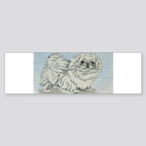 White Pekingese Bumper Sticker