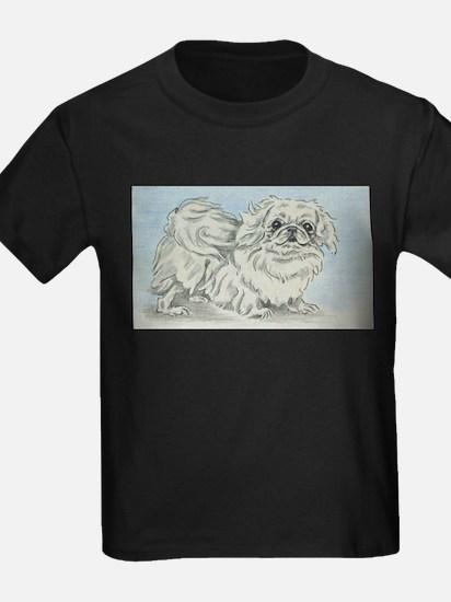 White Pekingese T-Shirt