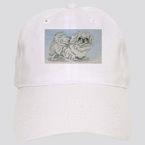 White Pekingese Cap