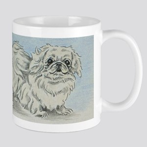 White Pekingese Mugs