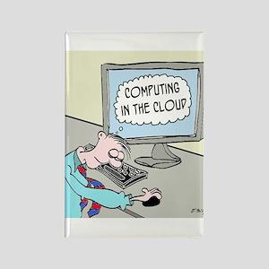 Computer Cartoon 9249 Rectangle Magnet