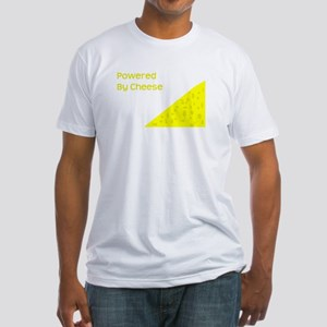 Powered by cheese Fitted T-Shirt