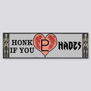 Honk If You Love Hades Sticker (Bumper)