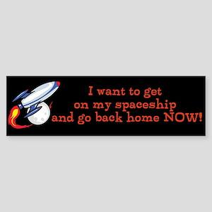 Spaceship Sticker (Bumper)