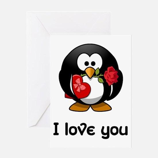 Romantic penguin gifts merchandise romantic penguin gift ideas i love you penguin greeting cards negle Images