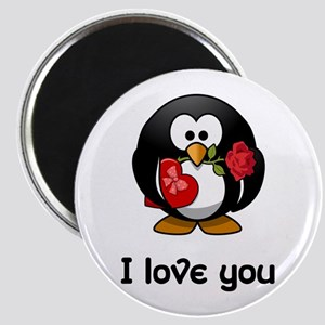I Love You Penguin Magnets