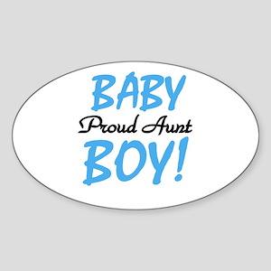 Baby Boy Proud Aunt Oval Sticker