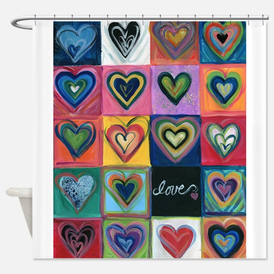 Unique I heart Shower Curtain