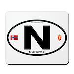 Norway Euro-style Code Mousepad