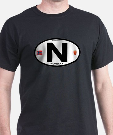 Norway Euro-style Code T-Shirt