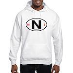 Norway Euro-style Code Hooded Sweatshirt