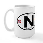 Norway Euro-style Code Large Mug