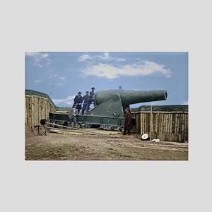 Rodman Civil War Cannon Rectangle Magnet
