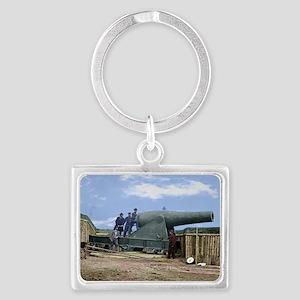 Rodman Civil War Cannon Landscape Keychain