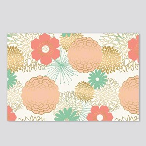 modern trends rustic flowers Postcards (Package of