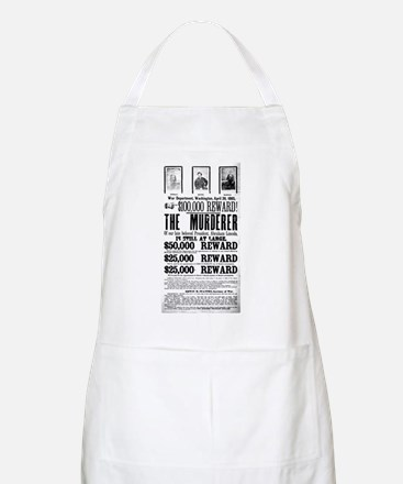 Wanted John Wilkes Booth Apron