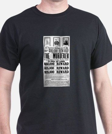 Wanted John Wilkes Booth T-Shirt
