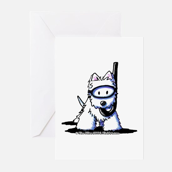 Scuba Westie Greeting Cards (Pk of 20)