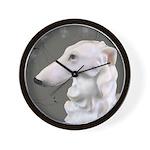 Borzoi Dogwood Silver Mist Wall Clock
