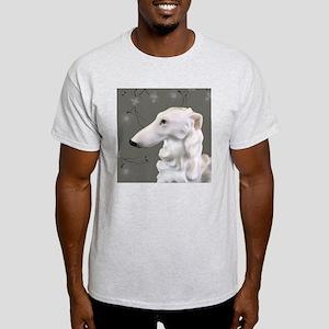 Borzoi Portrait Dogwood Mist Light T-Shirt