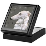 Borzoi Portrait Dogwood Mist Keepsake Box