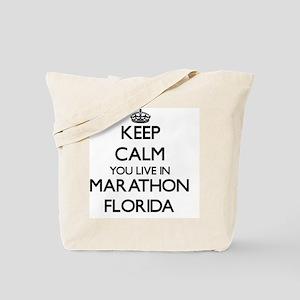 Keep calm you live in Marathon Florida Tote Bag