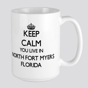 Keep calm you live in North Fort Myers Florid Mugs