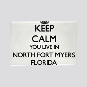 Keep calm you live in North Fort Myers Flo Magnets