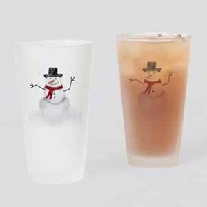 Snowman Drinking Glass