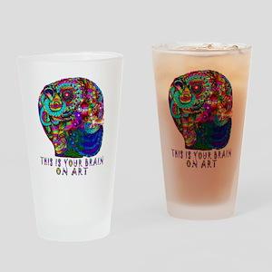 ART BRAIN Drinking Glass