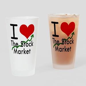 Stock Market Drinking Glass