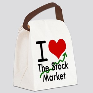 Stock Market Canvas Lunch Bag