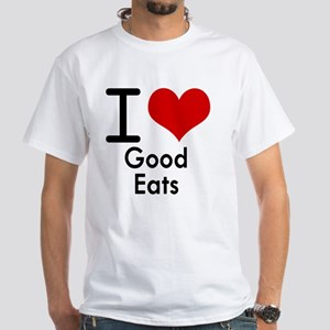 Good Eats White T-Shirt
