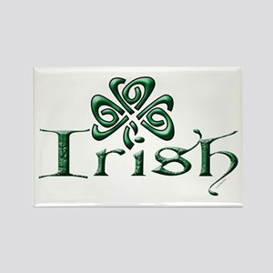Irish: Celtic Shamrock' Rectangle Magnet