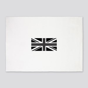 Union Jack - Black and White 5'x7'Area Rug
