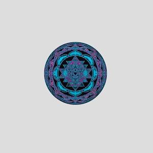 Magic Blue Mandala Mini Button