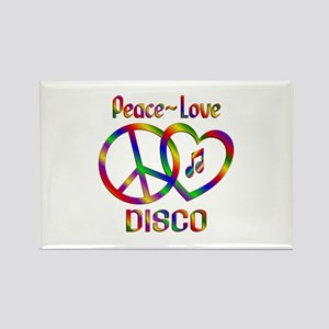 Peace Love Disco Rectangle Magnet