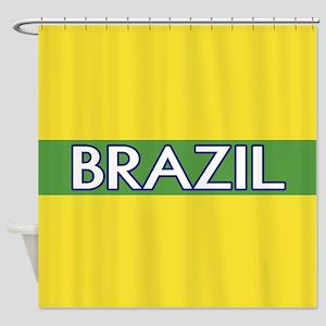 Brazil (Green Stripe) Shower Curtain