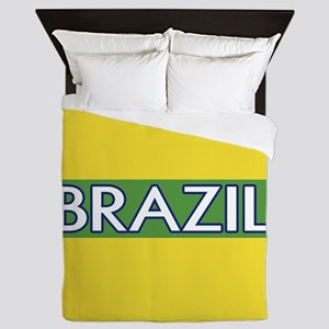 Brazil (Green Stripe) Queen Duvet