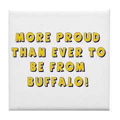 Proud Buffalonians Tile Coaster