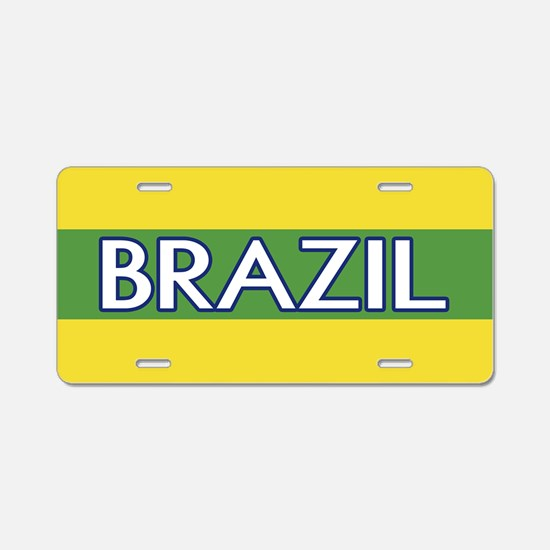 Brazil (Green Stripe) Aluminum License Plate