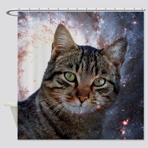 Cosmic Cat Shower Curtains