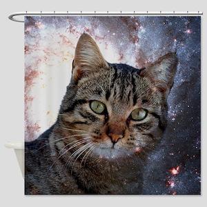 Cosmic Cat Shower Curtains