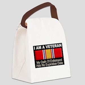 I Am A Veteran Canvas Lunch Bag