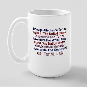 Quad Pledge Of Allegiance Large Mug