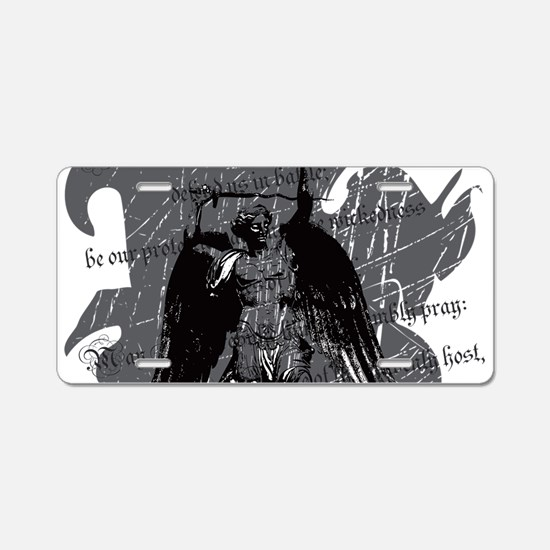 St. Michael: Protection Aluminum License Plate